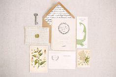 Botanical & travel stationery  http://weddingsparrow.co.uk/2014/07/25/boho-bridal-inspiration/