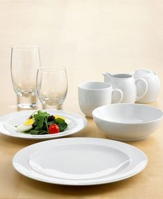 Denby Dinnerware White Collection - Macyu0027s. Porcelain; dishwasher microwave oven and & Making life easy. Canopy Round White Porcelain Dinnerware Set ...