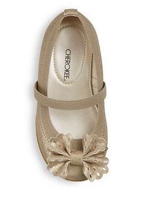 Cherokee Girls Gold Gilda Mary Jane Ballet Flat Shoes w Cut-out Bow 11 - NEW in Clothing, Shoes & Accessories, Baby & Toddler Clothing, Baby Shoes | eBay