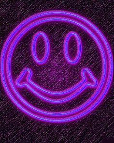 Why not a purple neon smiley :-) Magenta, Neon Purple, Purple Love, All Things Purple, Purple Lilac, Shades Of Purple, Purple Stuff, Purple Hearts, Purple Colors