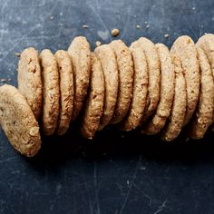 "Almond Shortbread Cookies | Food & Wine (""F&W's Kay Chun gives her crisp cookies a deeply nutty flavor with sliced almonds, almond butter and almond meal."")"