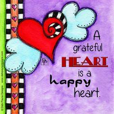 A Grateful Heart is a Happy Heart by Debi Payne
