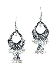 white brass chandellier earring - Online Shopping for Earrings