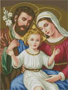Jesus Family People Cotton Canvas DMC Cross Stitch Kit Accurate Printed Print Embroidery DIY Handmade Needlework Wall Home Decor Cross Stitch Kits, Cross Stitch Embroidery, Cross Stitch Patterns, Cross Stitch Charts, Large Tapestries, Tapestry, Best Gifts For Mom, Mary And Jesus, Holy Family