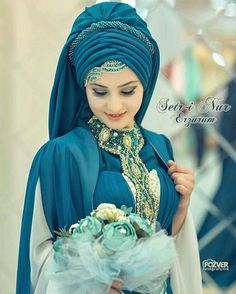 Hijab my crown my beauty's Wedding Hijab Styles, Hijab Wedding Dresses, Bridal Dresses, Hijabi Wedding, Tutorial Hijab Pashmina, Hijab Style Tutorial, Mode Turban, Turban Hijab, Bridal Hijab