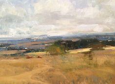 "Across to Wheatland by Simon Addyman Oil ~ 12"" x 16"""