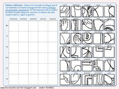 Me encanta escribir en español: Dibujo conjugando: un cuadro de Pablo Picasso (juego de conjugación - verbos reflexivos)