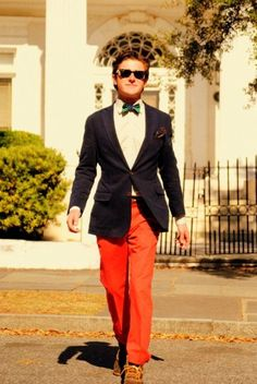 love colored pants!