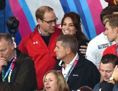 William and Catherine at the rugby game