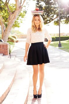 LC Lauren Conrad for Kohl's Polka Dot Organza Sweater & Textured Skirt