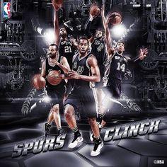 """HERE WE GO. #PlayoffBound #GoSpursGo #SanAntonioSpurs #SpursBasketball #SpursNation #Spurs #NBA"""