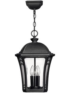 Wabash features solid aluminum construction with clear beveled glass, etched glass corner panels and decorative chevron detailing in a distressed finish. Porch Lighting, Home Lighting, Outdoor Lighting, Lantern Lighting, Traditional Light Bulbs, Outdoor Hanging Lanterns, Beveled Glass, Etched Glass, Antique Hardware