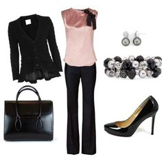 This is super cute, but my body is rejectin' the pink.  Work Attire :) #Fashion ideas for #Working #Women ... Get this with: http://www.globaleyeglasses.com