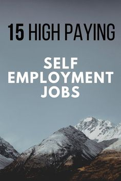 Here is a list of high paying jobs for people who want to be self employed. Lear… Here is a list of high paying jobs for people who want to be self employed. Learn the best business ideas to start today to make a lot of money quickly. Best Business To Start, Best Business Ideas, Best Home Business, Starting A Business, Business Tips, Online Business, Business Education, Business Marketing, Self Employed Jobs