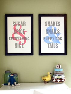 What Folks Are Made Of, prints for shared bedroom
