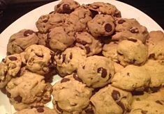 Melted Butter Chocolate Chip Cookies #Buttery nutty chocolatety tasty delicious #justapinchrecipes