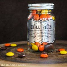 Chill Pills Gag Gift. What a cute way to giving Reese's Pieces or M