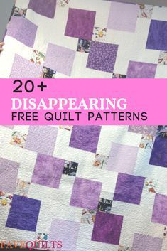 20 Stunning Disappearing Nine Patch Patterns Discover our collection of charming and free quilting patterns. We love these nine patch quilt blocks and full quilt patterns. Scrappy Quilt Patterns, Quilt Square Patterns, Beginner Quilt Patterns, Pattern Blocks, Quillow Pattern, Quilt Tutorials, Charm Square Quilt, Charm Quilt, Disappearing Nine Patch