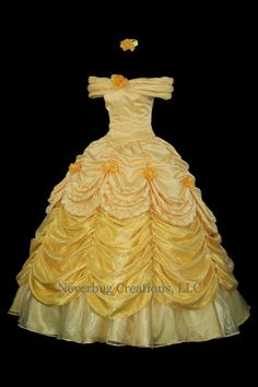 Beauty and the Beast Belle Parade Gown Custom di NeverbugCreations