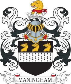 Maningham Family Crest and Coat of Arms