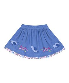 Look what I found on #zulily! Blue Bird Circle Skirt -Toddler #zulilyfinds