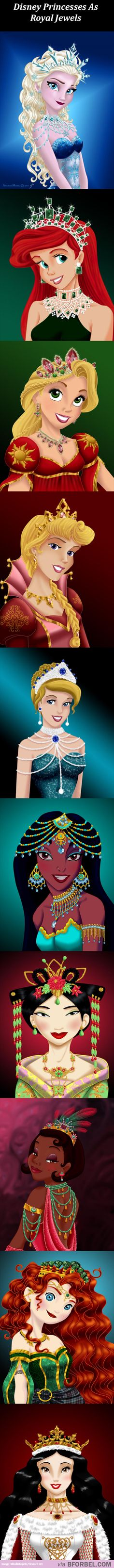 10 Disney Princesses With Their Royal Jewels