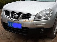 116.99$  Buy here - http://alicq4.worldwells.pw/go.php?t=32566076559 - July King LED Front Bumper Daytime Running Lights DRL, LED Fog Lamp Case for Nissan Qashqai, Red Black Silver frame can Choose 116.99$