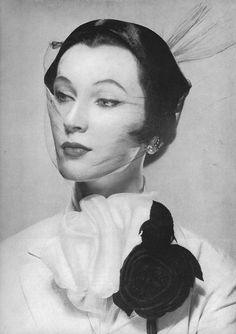 Dovima- Photo by Erwin Blumenfeld - February Vogue 1950