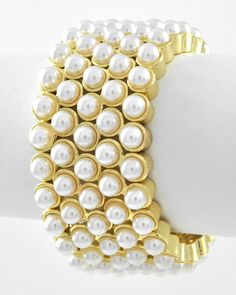 :::New Product Alert:::: Rolls of Pearlz Bracelet (Stretch)