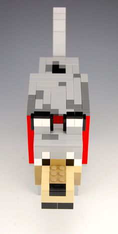 Lego Minecraft Wolf Minecraft Skins Easy, Minecraft Wolf, Easy Minecraft Cake, Cool Minecraft, Creeper Minecraft, Minecraft Houses, Lego Duplo, Lego Ninjago, Fuse Beads