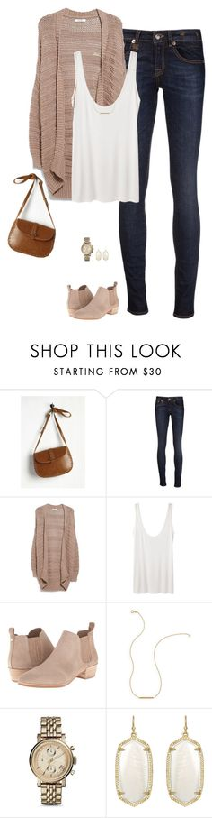"""""""Spring neutrals"""" by steffiestaffie ❤ liked on Polyvore featuring R13, MANGO, The Row, MICHAEL Michael Kors, Wish by Amanda Rose, FOSSIL and Kendra Scott"""