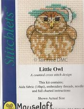 VAT Free Mouseloft Stitchlet Little Owl Bird Counted Cross Stitch Kit New