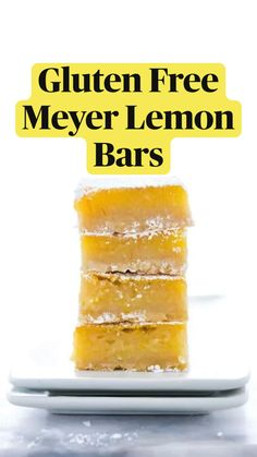 Gluten Free Ramen, Gluten Free Baking, Gluten Free Desserts, Dairy Free Recipes, Healthy Recipes, Dairy Free Low Carb, Desserts For A Crowd, Lemon Bars, Cafe Food