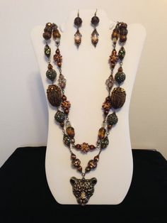 Necklace and Earrings made with Fantastic by JewelryWorksbyCarol, $65.00