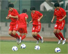 """If the North Korean women do have a reputation in international soccer, it is """"truculent"""". That's based in large part on an incident in Australia last year at the Asian Cup semifinal, which North Korea lost to China, Life In North Korea, International Soccer, Korean War, Korean Women, Football Team, Ny Times, Sports, Target, Basketball"""