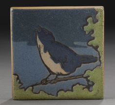 Saturday Evening Girls decorated pottery tile, auctioned for $8,295