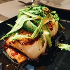 Scallops and pork belly at Bambarol, Barcelona. Photo: @barcelonafoodexperience http://www.barcelonafoodexperience.com/