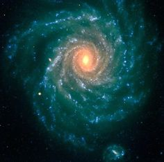 Spiral Galaxy NGC 1232 - The central region contains older stars of a reddish color, while the spiral arms are populated by young, blue stars and star-forming regions.