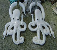 Fake gauge Octopus Bone hand carved Fancy Craved by ANELAJADE