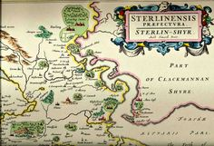 Extract of a map of Stirlingshire dated 1654 by Johannes Blaeu