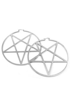 Pentagram Hoop Earrings [S]