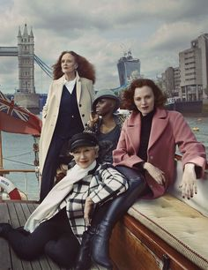 Britain's leading ladies shot by Annie Leibovitz for Marks UK Fall 2013 ad campaign