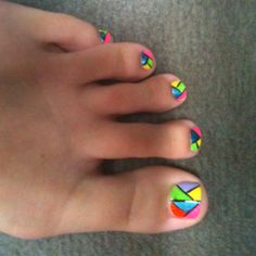 stain glass nail design