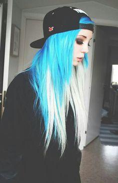 Blue & Blonde Hair . Love It