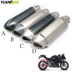 Modified Motorcycle  Exhaust Pipe carbon fibre Universal Muffler for KTM Yamaha Tmax 500 530 XJR 400 1300 KTM Duke 390 125 200
