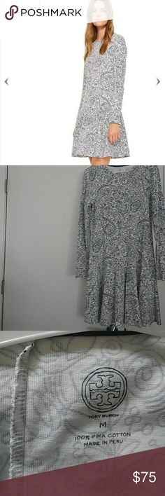 Tory burch dress Its a black and white drooling dress. Its made out of cotton and super comfy. I never got a chance tp wear and now that its too big for me. Tory Burch Dresses Midi