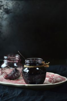 Blueberry Jam with Pears and Cinnamon