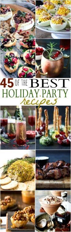 45 OF THE BEST HOLIDAY PARTY RECIPES Really nice recipes. Every  Mein Blog: Alles rund um die Themen Genuss & Geschmack  Kochen Backen Braten Vorspeisen Hauptgerichte und Desserts