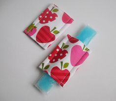 Magnetic Freezer pop cozy'sStrawberry by MyHappyHobbies on Etsy, $4.00