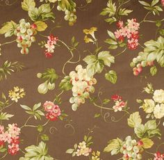 Waverly Fabric / Napoli Espresso / Kitchen Vines and Grapes Drapery Fabric Espresso Kitchen, Waverly Fabric, Kitchen Fabric, Kitchen Valances, Drapery Fabric, Curtains, Corn Hole Game, Slipcovers, Vines